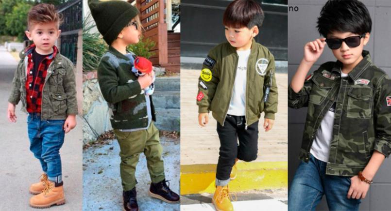 4 Tendências de moda infantil para o inverno 2019 - Militarismo