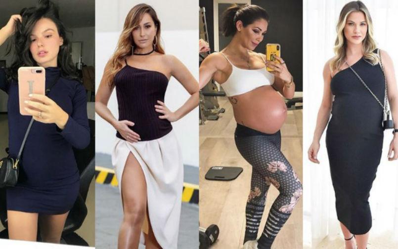 Os looks que as famosas usaram na gravidez